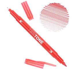 Rotulador Acuarelable Doble Punta Tombow Twintone - Red 25