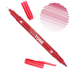 Rotulador Acuarelable Doble Punta Tombow Twintone - Strawberry Red 75