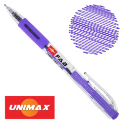 Bolígrafo Retráctil UNIMAX FAB 0.5 Violeta