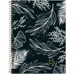 Cuaderno Anillado Carta Tilibra B&W con 80 Hojas Cuadriculadas -Floral-