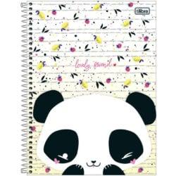 Cuaderno Anillado Carta Tilibra Lovely Friend con 80 Hojas Cuadriculadas -Panda-