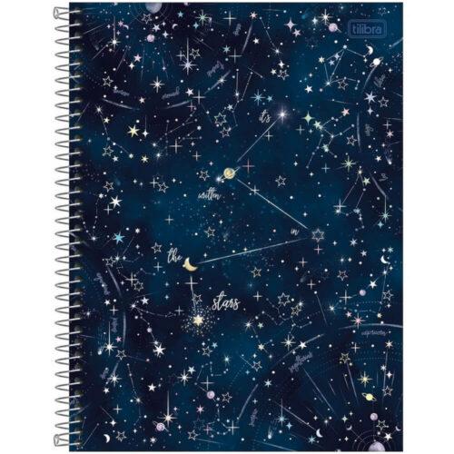 """Cuaderno Anillado Carta Tilibra Magic con 80 Hojas Cuadriculadas """"It's written in the stars"""""""