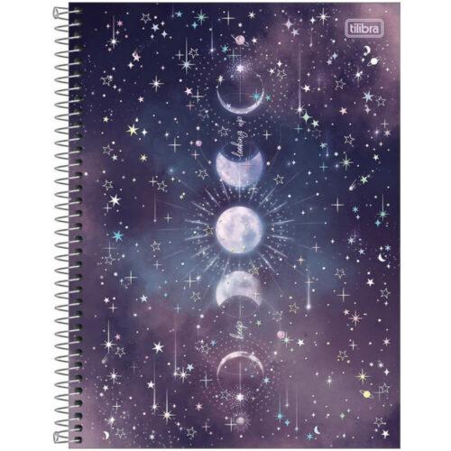 Cuaderno Anillado Carta Tilibra Magic con 80 Hojas Cuadriculadas -Keep looking up-