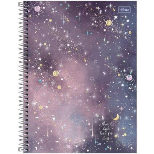 Cuaderno Anillado Carta Tilibra Magic con 80 Hojas Cuadriculadas -When it's dark, look for stars-