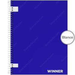 Cuaderno Anillado Carta WINNER con 100 Hojas sin Cuadriculado - Azul