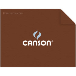 Pliego Cartulina CANSON Colorline (50 x 65 cm) Avellana