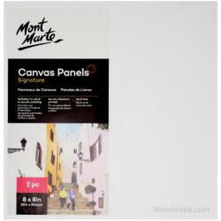 Set 2 Paneles de Lienzo Mont Marte (20.4 x 20.4 cm)