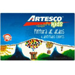 Set 6 Pintura de Dedos Artesco