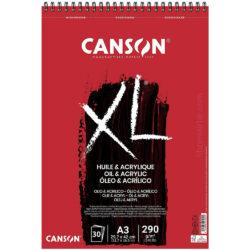 Bloc de Papel para Óleo y Acrílico CANSON XL® con 30 Hojas de 290 g Tamaño A3