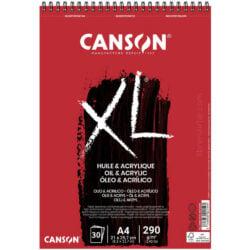 Bloc de Papel para Óleo y Acrílico CANSON XL® con 30 Hojas de 290 g Tamaño A4