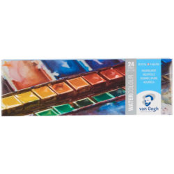 Estuche Metálico de Acuarelas Van Gogh con 24 colores en Medias Pastillas