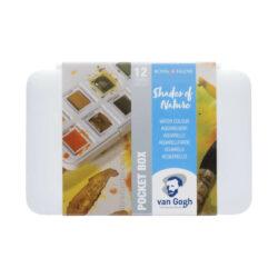 Estuche de Acuarelas Van Gogh en Tonos Naturales con 12 Colores en Medias Pastillas
