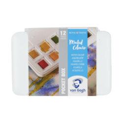 Estuche de Acuarelas Van Gogh en Tonos Tenues con 12 Colores en Medias Pastillas