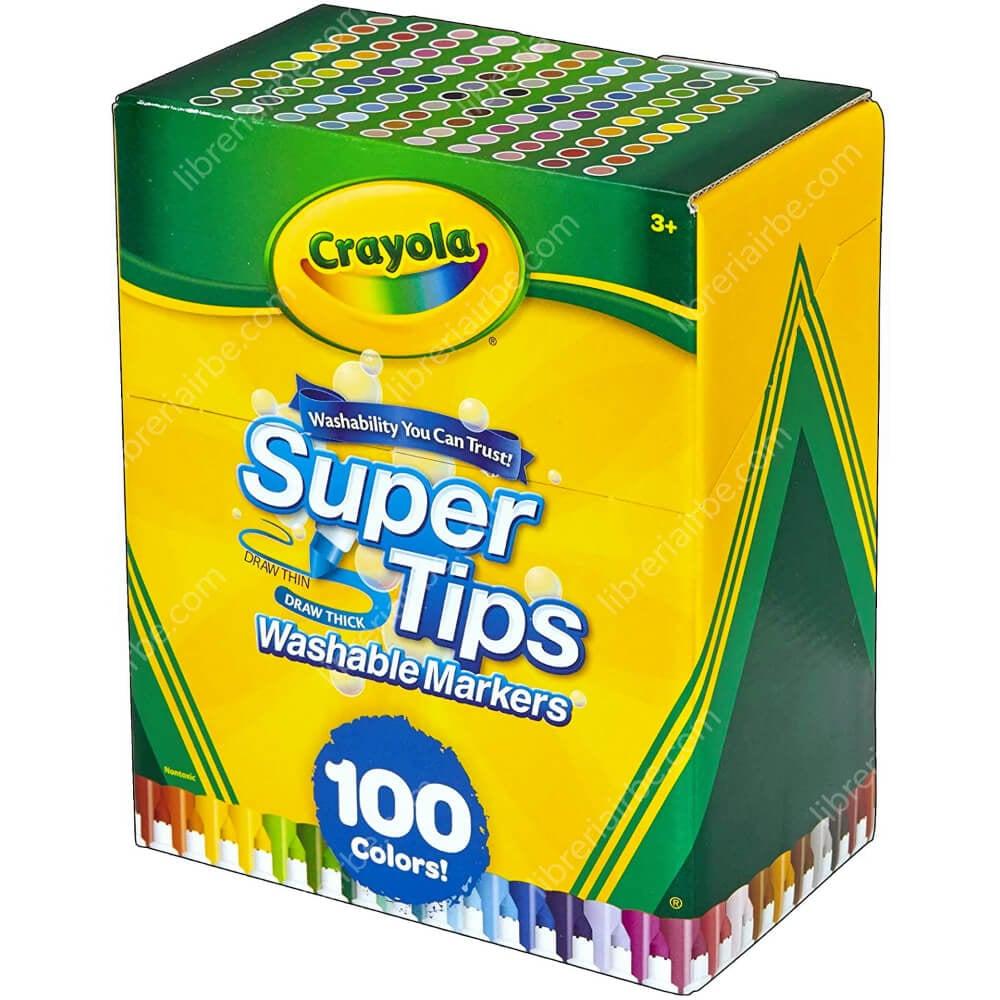 Set 100 Marcadores Crayola Super Tips Nuevo