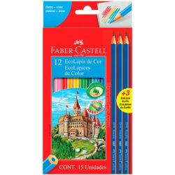 Set 12 EcoLápices de Colores Faber-Castell + 3 EcoLápices de Grafito