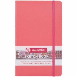 Sketchbook Talens Art Creation con 80 Hojas de 140 g (13 x 21 cm) Rojo Coral
