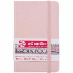 Sketchbook Talens Art Creation con 80 Hojas de 140 g (9 x 14 cm) Rosa Pastel