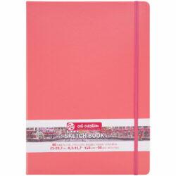 Sketchbook Talens Art Creation con 80 Hojas de 140 g Tamaño Carta Rojo Coral