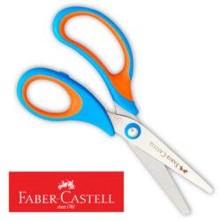 Tijera Escolar Soft Touch 13 cm Faber-Castell - Azul