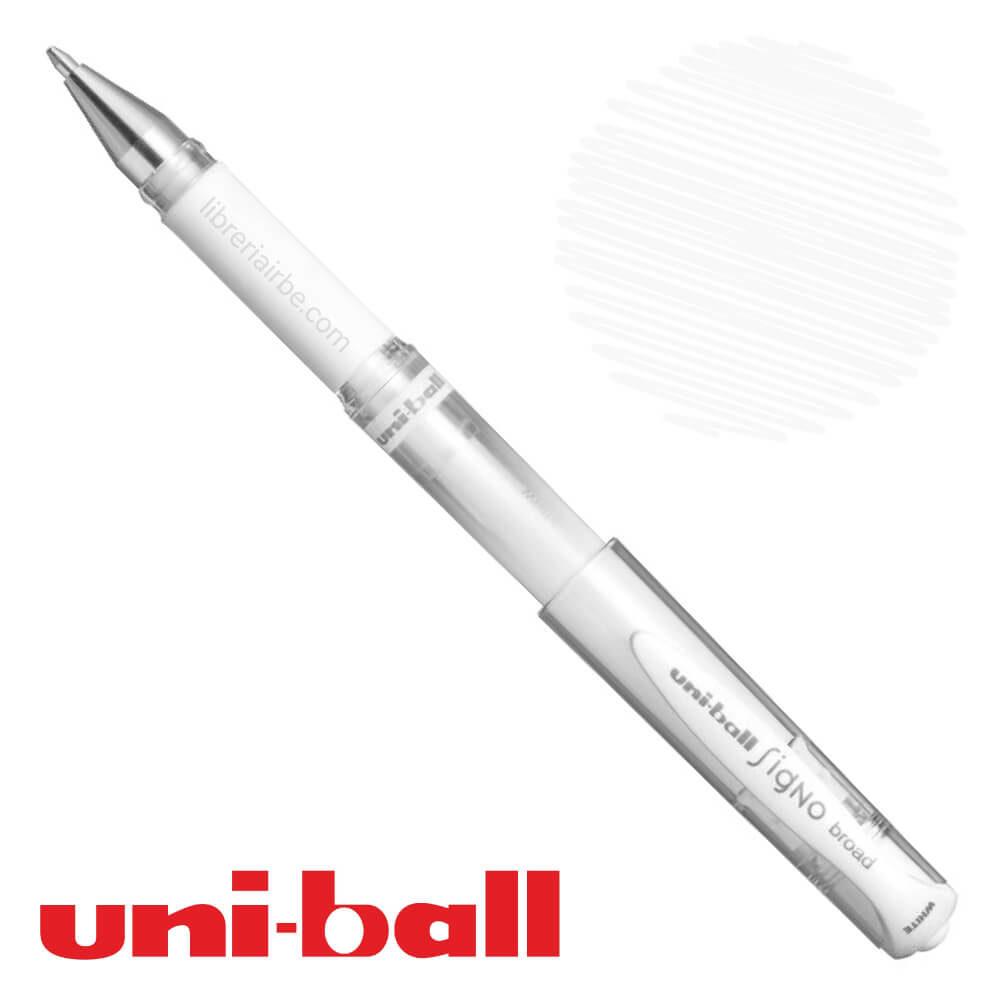 Bolígrafo Gel uni-ball Signo Broad UM-153 Blanco