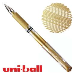 Bolígrafo Gel uni-ball Signo Broad UM-153 Dorado Metálico