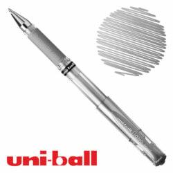 Bolígrafo Gel uni-ball Signo Broad UM-153 Plateado Metálico