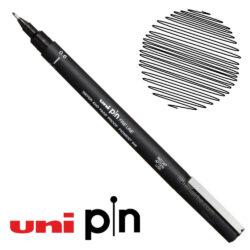 Estilógrafo de Dibujo uni Pin Fine Line Negro 0.6
