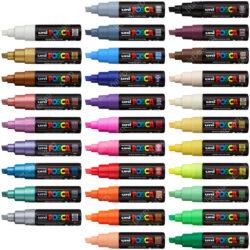 Marcadores uni-POSCA PC-8K por Unidad (31 Colores)