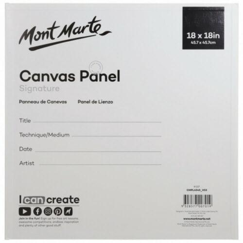 Panel de Lienzo Mont Marte (45.7 x 45.7 cm) Nuevo Reverso