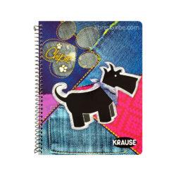 Cuaderno Anillado Medio Oficio KRAUSE con 100 Hojas Cuadriculadas 5 mm (Portada Aleatoria)