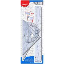 Estuche Geométrico de 4 Piezas Maped Maxi Kit