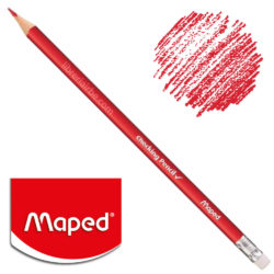 Lápiz Rojo con Goma Maped Checking Pencil