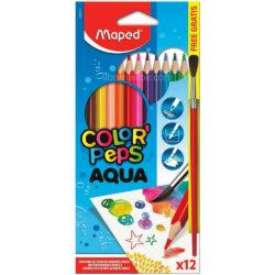 Set 12 Lápices de Colores Acuarelables Maped Color'Peps Aqua + Pincel Nuevo