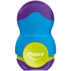 Tajador 1 Orificio y Goma de Borrar Maped Loopy Azul