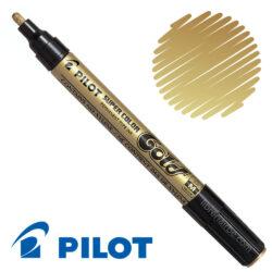 Marcador Permanente Metálico PILOT Super Color Medium Dorado