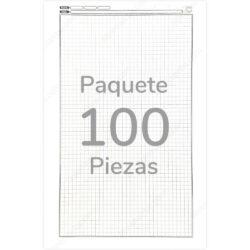Paquete 100 Cuadernillos Papel Ministro Cuadrícula 5 mm Tamaño Oficio TOP