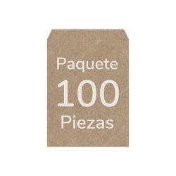 Paquete 100 Sobres Kraft - Manila 1-2 Oficio (18 X 23.8cm)