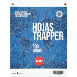 Paquete 200 Hojas Trapper de 3 Perforaciones con Cuadrícula 5 mm Tamaño Carta TOP - Gris