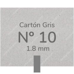 Pliego Cartón Prensado Gris Nº 10 (1.8 mm) 80 x 120 cm
