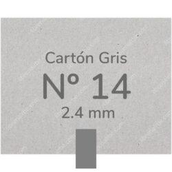 Pliego Cartón Prensado Gris Nº 14 (2.4 mm) 80 x 120 cm