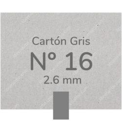 Pliego Cartón Prensado Gris Nº 16 (2.6 mm) 80 x 120 cm