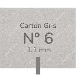 Pliego Cartón Prensado Gris Nº 6 (1.1 mm) 80 x 120 cm