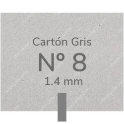 Pliego Cartón Prensado Gris Nº 8 (1.4 mm) 80 x 120 cm