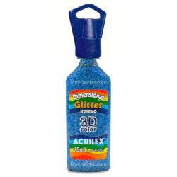 Dimensional Glitter Relieve 3D Color 35 ml ACRILEX Azul 204