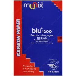 Paquete 100 Hojas Papel Carbónico Azul Tamaño Oficio Munix Blu