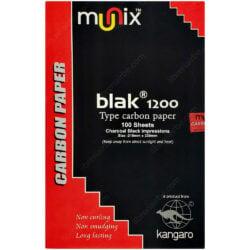 Paquete 100 Hojas Papel Carbónico Negro Tamaño Oficio Munix Blak