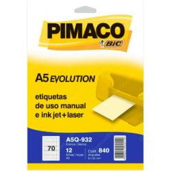 Paquete 840 Etiquetas Adhesivas de uso manual e Inkjet + Laser PIMACO (9 x 32 mm)