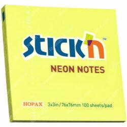 Bloc 100 Notas Adhesivas Stick'n Neón (76 x 76 mm) Amarillo