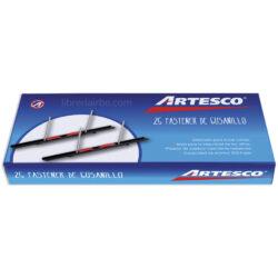 Caja 25 Nepacos - Fastener de Gusanillo Plástico Artesco