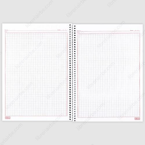 Cuaderno Anillado Carta Tilibra B&W con 80 Hojas Cuadriculadas Hojas Interior